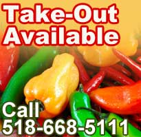 Take-Out Available - 518-668-5111
